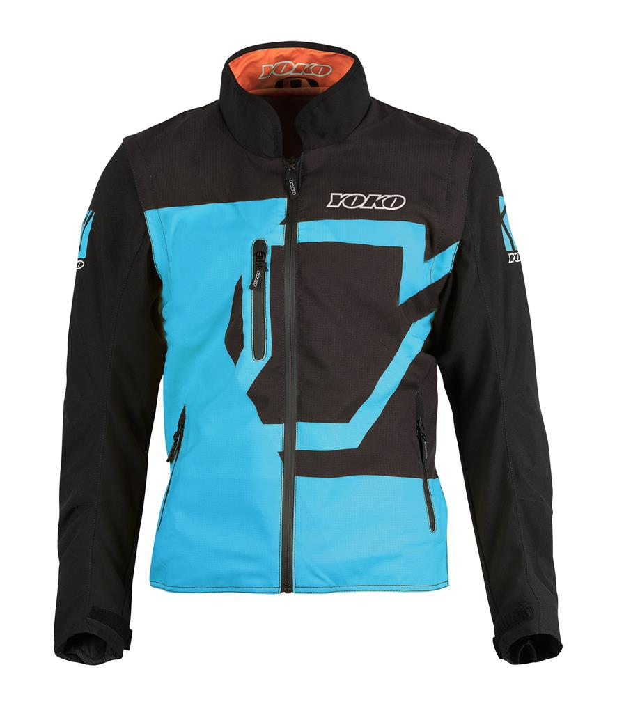 SKUTSI SUMMER JACKET - BLACK / BLUE