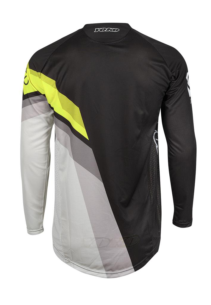 M - VIILEE JERSEY - BLACK / WHITE / YELLOW