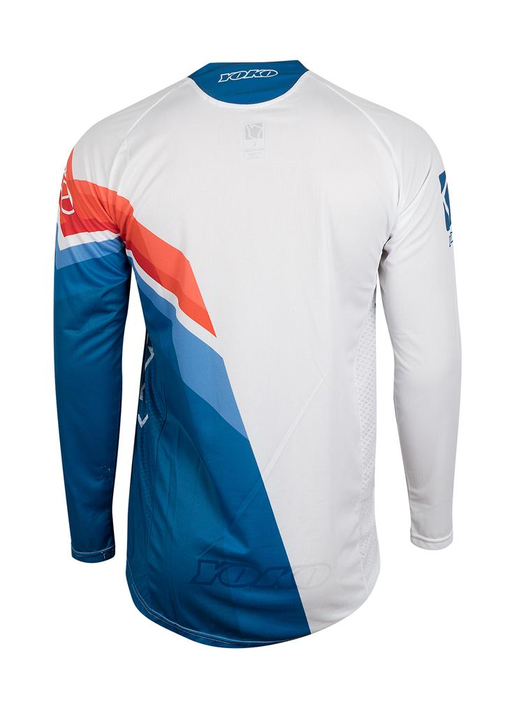 VIILEE JERSEY - WHITE / BLUE /FIRE