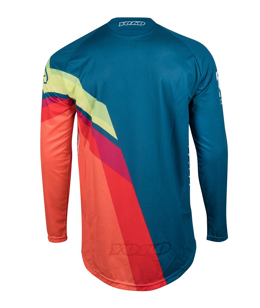 VIILEE JERSEY - BLUE/ ORANGE / YELLO