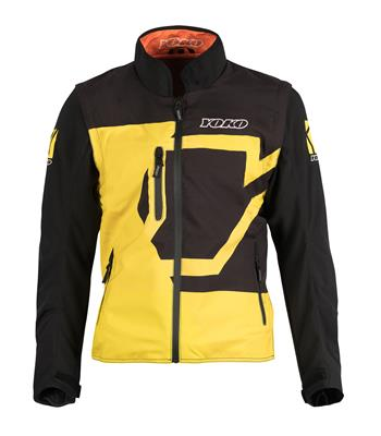 SKUTSI SUMMER JACKET - BLACK / YELLOW