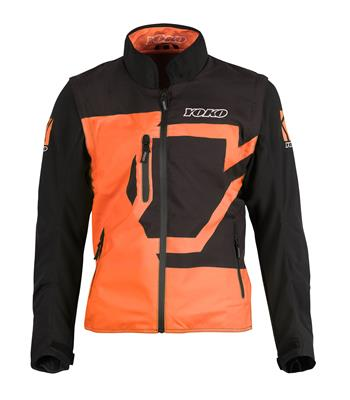 SKUTSI SUMMER JACKET - BLACK / ORANGE