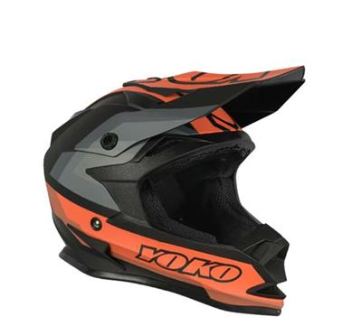 SCRAMBLE HELMET MATTE BLACK / ORANGE
