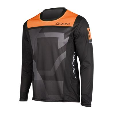 KISA JERSEY - BLACK / ORANGE