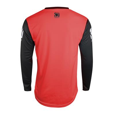 SCRAMBLE JERSEY - BLACK / RED