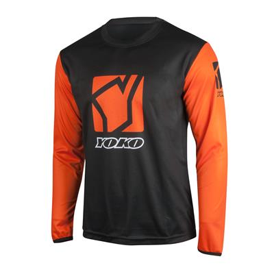 SCRAMBLE JERSEY - BLACK / ORANGE