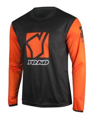 SCRAMBLE JERSEY KIDS - BLACK /ORANGE