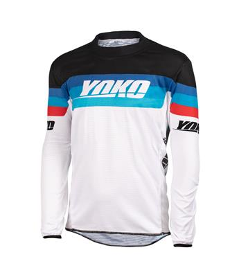 SKIDI JERSEY (S-XL) - WHITE / BLACK / RED