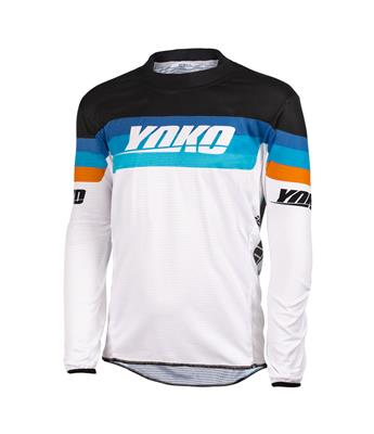 SKIDI JERSEY (S-XL) - WHITE / BLACK / ORANGE