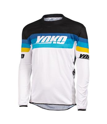 SKIDI JERSEY (S-XL) - WHITE / BLACK / YELLOW