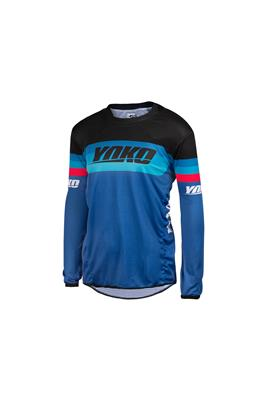 SKIDI JERSEY (S-XL) - BLUE / BLACK / RED