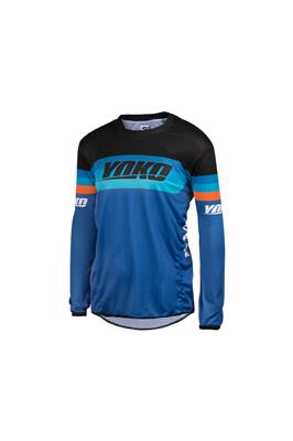SKIDI JERSEY (S-XL) - BLUE / BLACK / ORANGE